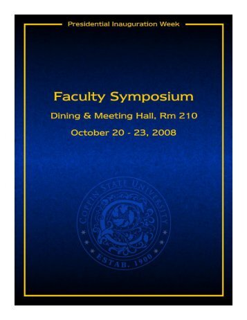 Symposium Document - Coppin State University