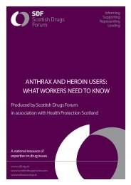 ANTHRAX AND HEROIN USERS: WHAT WORKERS NEED TO ...