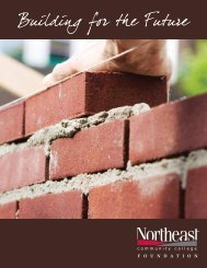 Foundation Scholarships - Northeast Community College