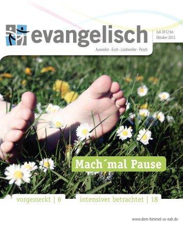 Mach´mal Pause - Evangelische Kirchengemeinde Köln Pesch