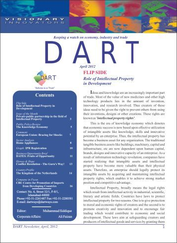 DART Newsletter, April 2012 - Consultancy Services in Pakistan