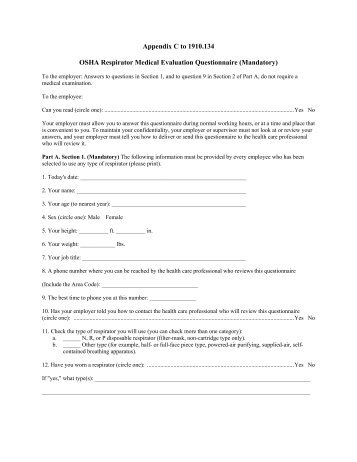 OshaRespiratorMedicalEvaluationQuestionnaireMandatoryJpgQuality