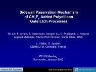 Sidewall Passivation Mechanism of CH x F y Added Polysilicon