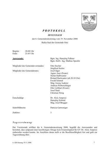 6. Gemeinderatsprotokoll (250 KB) - .PDF - Gemeinde Oetz