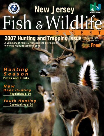 2007 NJ hunting digest web version - State of New Jersey