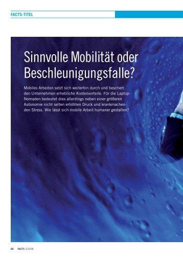 Sinnvolle Mobilität oder Beschleunigungsfalle?
