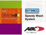 Speedy Wash System - ABC Companies
