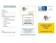 ATTIVITA' FISICA ADATTATA (AFA) - ASL 1 di Massa e Carrara