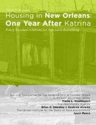 housing in New Orleans one year after Katrina - Kirwan Institute ...