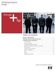 HP NonStop Enterprise Storage brochure - PDF - Hewlett-Packard