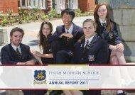 annual report 2011 - Perth Modern School
