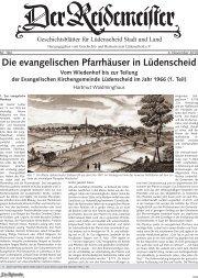 Die evangelischen Pfarrhäuser in Lüdenscheid - Geschichts- und ...