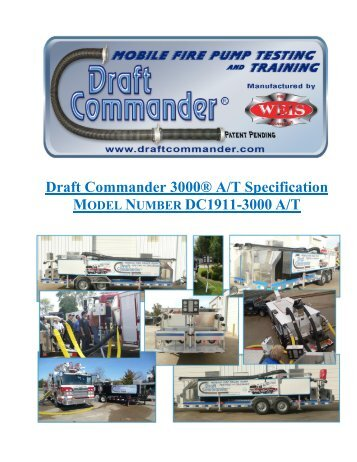 Why Draft Commander® 3000 A/T? - Weis Fire & Safety Equipment ...