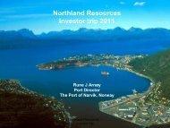 (2011) 2015 2020 LKAB  18 28 34 Northland 0 5 7 Scandinavian 0 0 ...