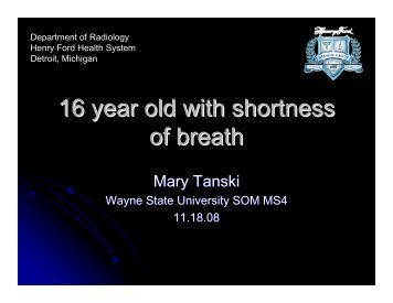 16 year old with shortness of breath - Henry Ford Health System