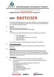 Reglement ZSSV Grand Prix - Zentralschweizer Schneesport Verband