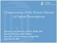 Characteristics of the Patient Misuser of Opioid Prescriptions