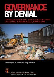 Final fact-finding Report on Forced Evictions in ... - hic-sarp.org