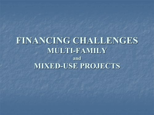 Financing Challenges - Vectra Bank Presentation - Sonoran Institute