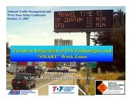 """Trends in Integration of ITS Technologies and """"SMART"""" Work Zones"""
