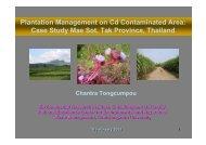 Plantation Management on Cd Contaminated Area: Case Study Mae ...