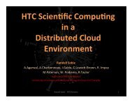 HTC computing in a distributed compute cloud - University of Victoria
