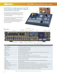 SE-3000 16-input HD & SD video switcher - Datavideo