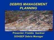 Debris Management Plan - Governor's Office of Homeland Security ...