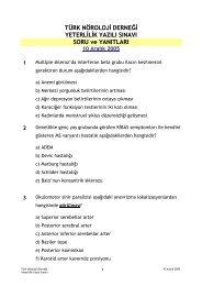 nöroloji board sınav soruları - Türk Nöroloji Derneği