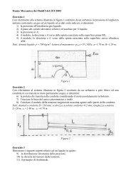 Esame Meccanica dei Fluidi I del 25/1/2005 Esercizio 1 Con ...