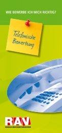 Telefonische Bewerbung - Treffpunkt-Arbeit