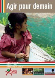 Rapport d'activité annuel de l'association - Planète Urgence