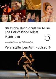 Staatliche Hochschule für Musik und Darstellende Kunst Mannheim ...