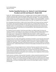Panther Announces R. Louis Schneeberger as CEO and Edward R ...