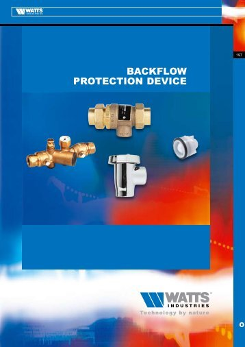 BACKFLOW PROTECTION DEVICE - Watts Industries