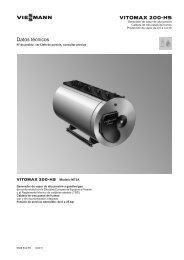 Datos técnicos Vitomax 200-HS M75A652 KB - Viessmann