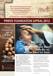 2012 Priests Foundation Appeal Newsletter - Archdiocese of Brisbane