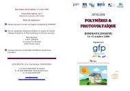 POLYMÈRES & PHOTOVOLTAÏQUE - Groupe Français d études et ...