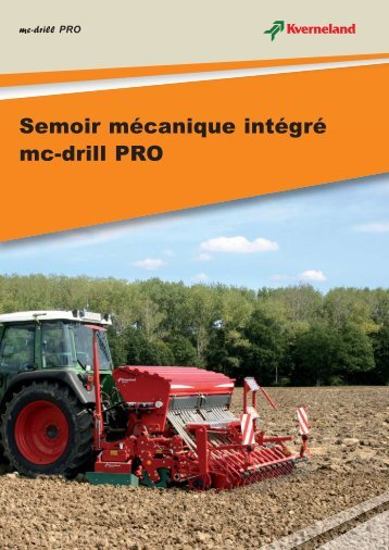 Semoir mécanique intégré mc-drill PRO