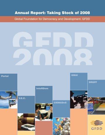 Annual Report: Taking Stock of 2008 - GFDD