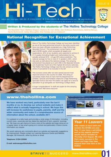 Issue 8 - The Hollins Technology College