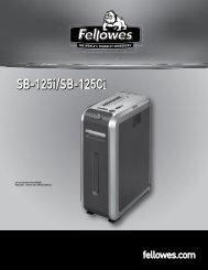 Manuel d'utilisation SB-125i/SB-125Ci - Fellowes