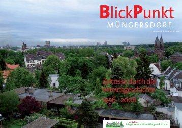 Blickpunkt - Bürgerverein Köln-Müngersdorf ev