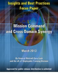 Mission Command and Cross-Domain Synergy - Defense ...