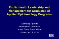 Public Health Leadership and Management for Graduates ... - Library