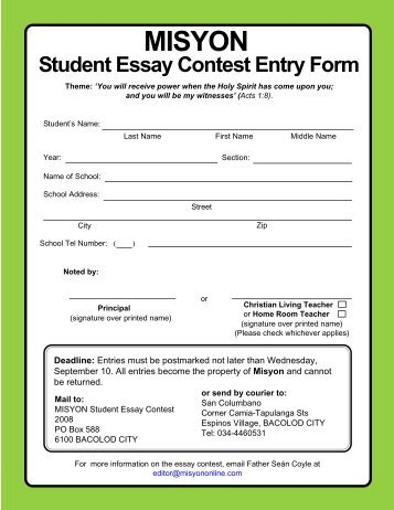 Sisters Sippin' Tea Essay Contest Application Form Deadline