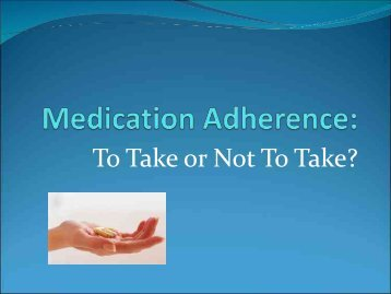 Adherence - Free CE Continuing Education online pharmacy ...