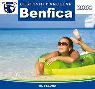 18. sezóna - BENFICA - cestovní kancelář