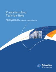 Create!form Bind Technical Note