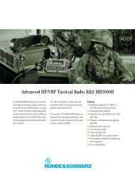 Advanced HF/VHF Tactical Radio R&S MR3000H